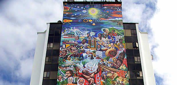 """Mural """"Buenaventura 450 años al Cosmos"""" recuperó su brillo y esplendor"""