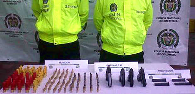 La Policía Nacional incauta en Cartago armas de fuego y munición