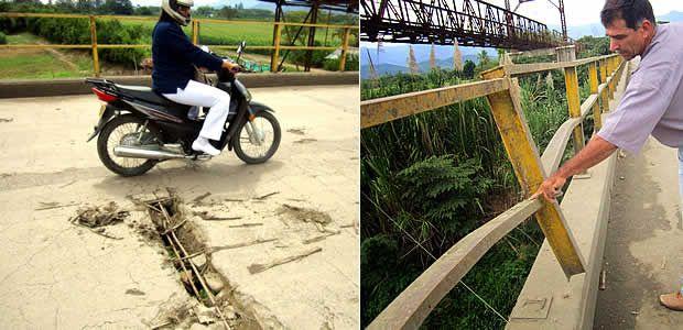Trenes cañeros y tractomulas ponen en peligro el puente que une a Roldanillo y Zarzal