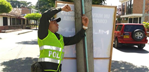 Grupo de protección ambiental Cartago realizo control contaminación visual