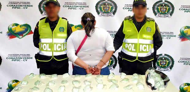 Policía capturó a una mujer con 450 dosis de bazuco