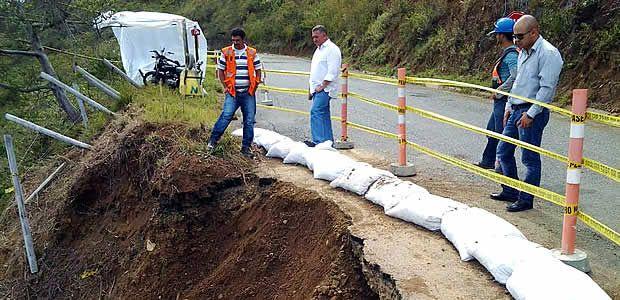 Recuperación de vía que de La Unión conduce a Corregimiento Quebrada Grande