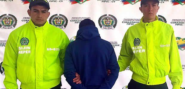 """Policía logró la captura de alias """"Carlitos"""" por el delito de homicidio"""