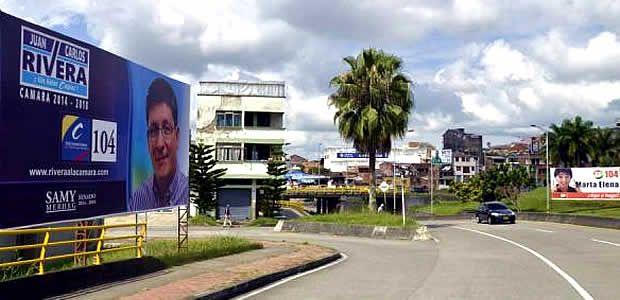 46 vallas han sido instaladas por los partidos políticos en Pereira