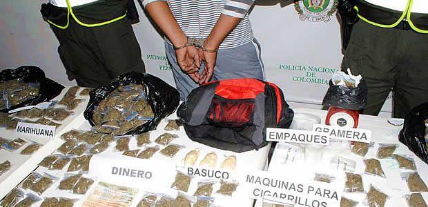 En lo que va de 2014 se han capturado 30 personas por comercialización de estupefacientes en Pereira