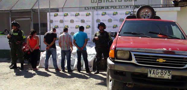 Policía Cauca hizo importante incautación de insumos para el procesamiento de narcóticos