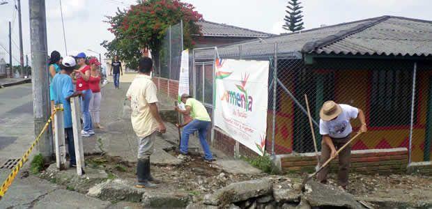 En La Castilla y Puerto Espejo el gobierno de Armenia y la comunidad ejecutaron obras menores