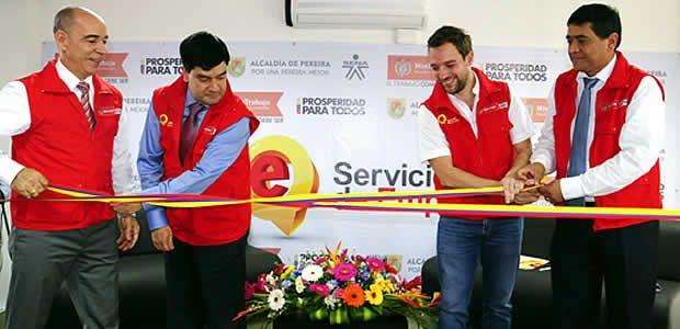 Alcalde de Pereira, inauguró el tercer centro de empleo para la ciudad