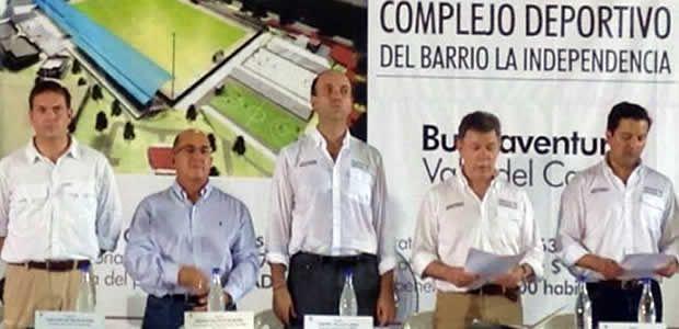 Gobernador del Valle y presidente Santos se reunieron con familias y jóvenes en acción en Buenaventura