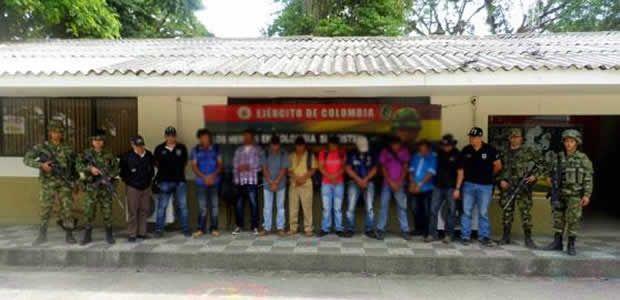 Capturados 10 presuntos miembros de Los Urabeños en el Norte del Valle