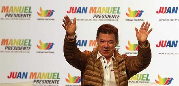 El candidato Presidente Juan Manuel Santos hoy en Cartago