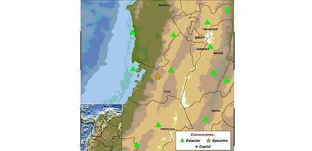 Servicio geológico reporta sismo que se sintió en gran parte del Valle del Cauca