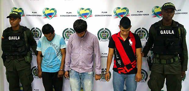 Policía nacional logra la captura de 3 presuntos extorsionistas en Cartago