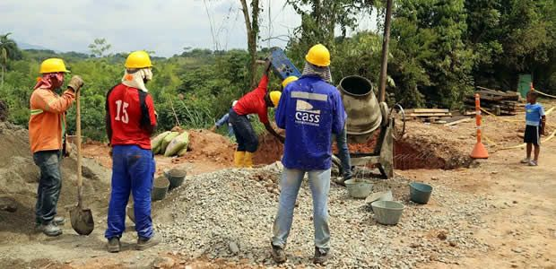 Inició pavimentación de la vía La Balsa-Buenos Aires en el Cauca