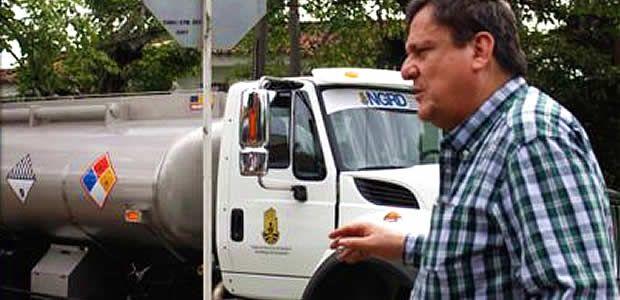 Llega carrotanque para el suministro de agua potable en Vijes, Valle