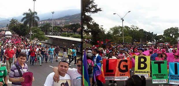 """Gran asistencia al """"Día internacional del orgullo gay"""" en Santiago de Cali"""