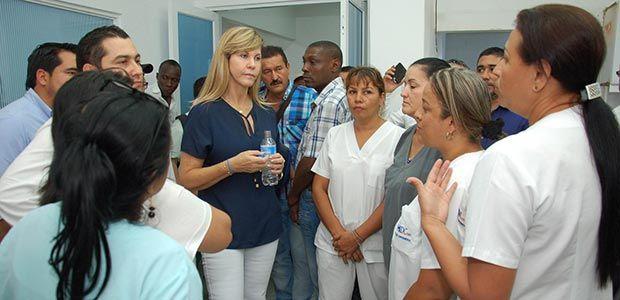 Gobernadora del Valle inspeccionó obras de remodelación del Hospital San Juan de Dios de Cartago