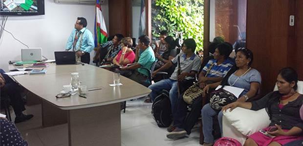 Mesa de concertación para construir mejorías a las poblaciones indígenas