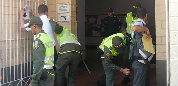 Operativo preventivo realizó la Policía en el entorno del Palacio de Justicia de Cartago