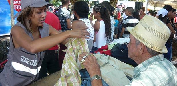 Jornada social se realizó este sábado en el sector del parque Jorge Eliécer Gaitán de Cartago