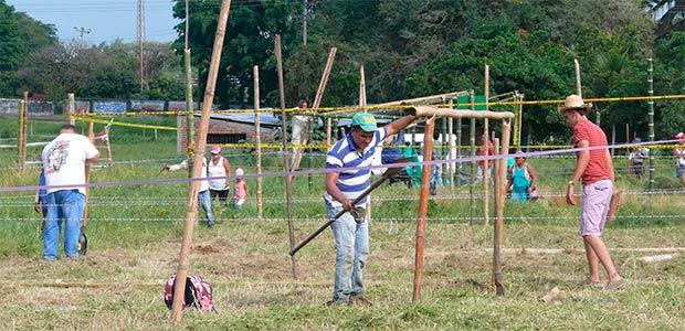 Varias familias de Obando se tomaron lote del proyecto Villa Marlenia