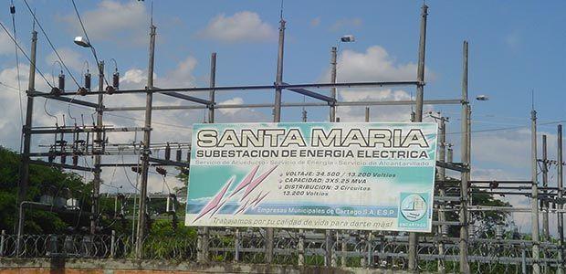 Este domingo se suspenderá fluido eléctrico en algunos sectores de Cartago