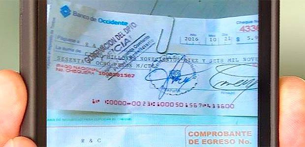 Gobierno del Valle alerta a la comunidad sobre estafa con cheques a nombre de la gobernación