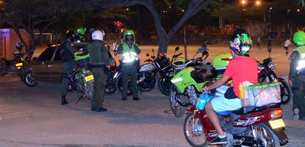 Restricción de circulación de motos en fin de año en Cartago