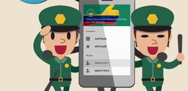 Patrullero paisa creó app para entender el nuevo Código de Policía