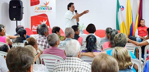 Alcalde enfrenta las necesidades de Armenia comuna a comuna