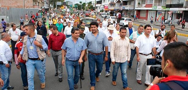 Gobernador del Quindío participará hoy de la segunda marcha Carnaval por el agua y la vida