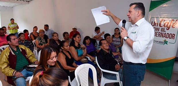Gobernador anunció inversiones por $500 millones en Comuna río Otún de Pereira