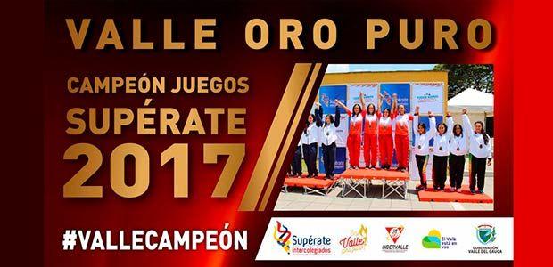 Valle del Cauca campeón de los Juegos Supérate 2017