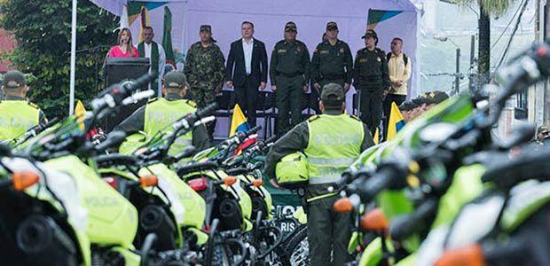 $2085 millones invirtió Risaralda en parque automotor para la Policía nacional
