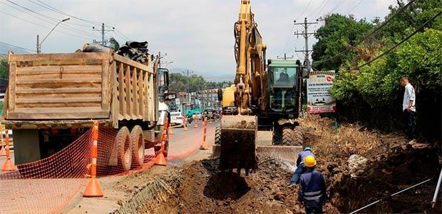 Se reinicia cambio de redes de servicios públicos en obras para la doble calzada en la antigua vía Cali-Yumbo