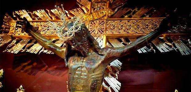 La imagen del Señor de los Milagros este domingo en Cartago