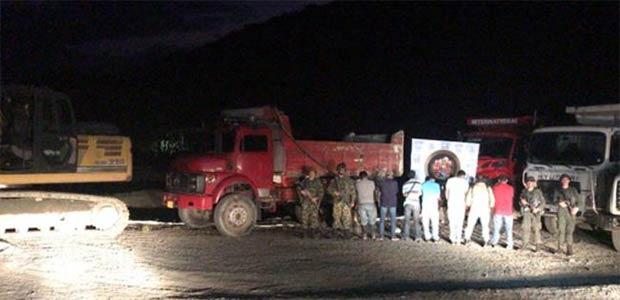Detenidos por minería ilegal en el Valle del Cauca