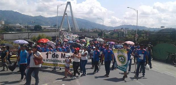 7 mil trabajadores marcharon en Dosquebradas y Pereira