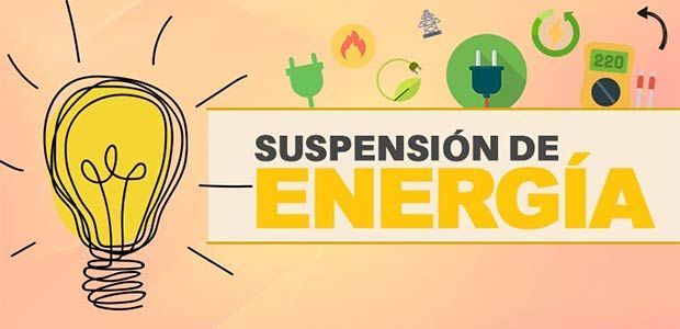 Suspensión del servicio de energía hoy 31 de mayo