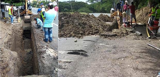 Iniciaron obras de reparación del alcantarillado en el corregimiento de cruces