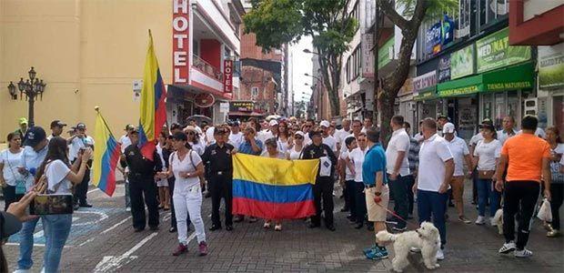 Pocos ciudadanos acompañaron la marcha contra el terrorismo en Pereira