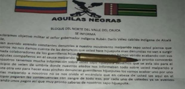 Denuncian amenazas contra gobernador de cabildo indígena en Alcalá, Valle del Cauca