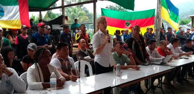 Gobierno busca acuerdos con minga de La Delfina, en el Valle del Cauca