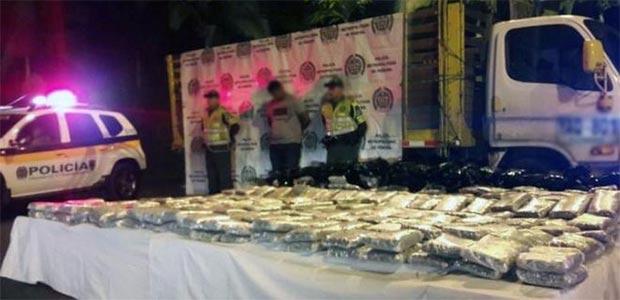 Interceptan cargamento de marihuana en vía Cartago-Pereira