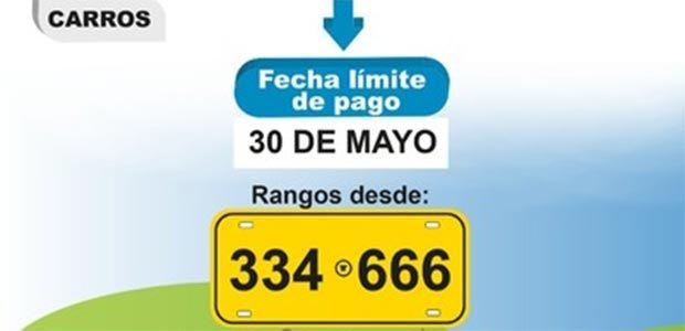 Hoy 30 de mayo vence segundo plazo para el pago del impuesto de vehículos en el Valle