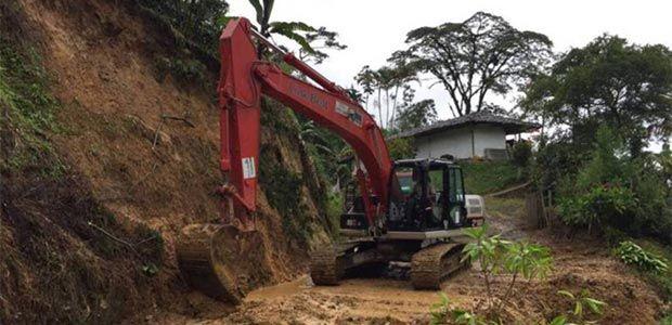 Colapsan vías rurales de Risaralda a causa de las intensas lluvias
