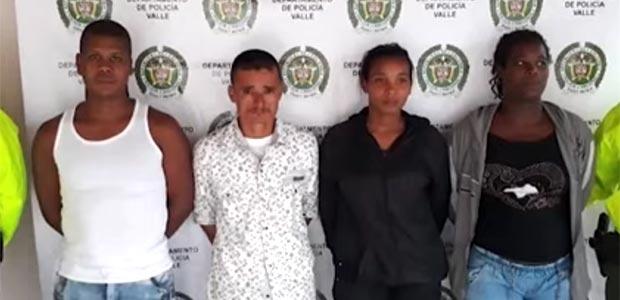 Cuatro personas capturadas en el Valle que presuntamente pertenecen al frente 'Ché Guevara' del ELN