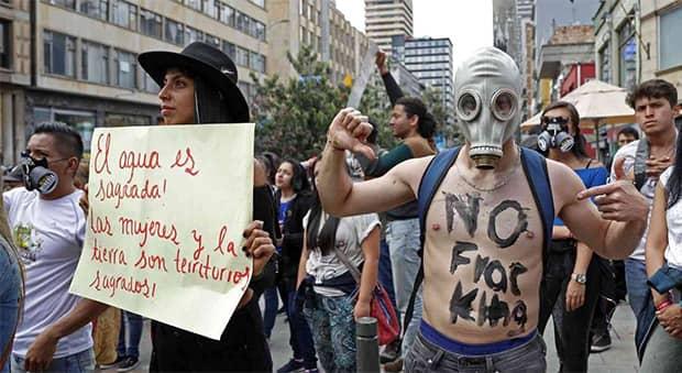 Marcha-carnaval contra el fracking y la minería contaminante