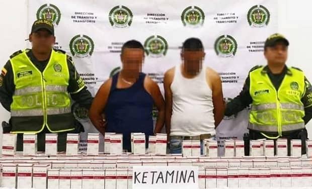 Capturadas dos personas que transportaban 174 frascos de Ketamina camuflados en bultos de papa