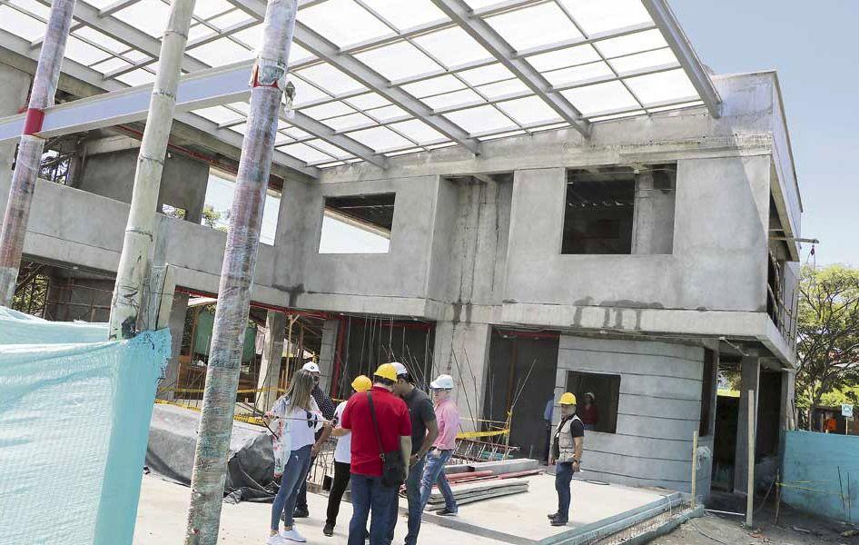 En un 80% construcción de Estación de Bomberos en Puerto Caldas